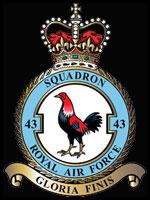 RAF 43Sqn emblem
