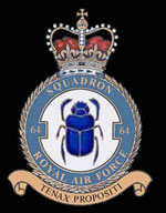 RAF 64Sqn emblem