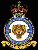 RAF 74Sqn emblem