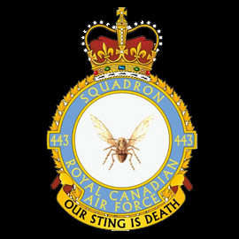 RCAF No 443 (Hornet) Squadron emblem