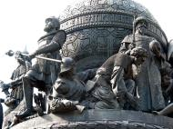 Asisbiz Veliky Novgorod Bronze monument to the Millennium of Russia 1862 08