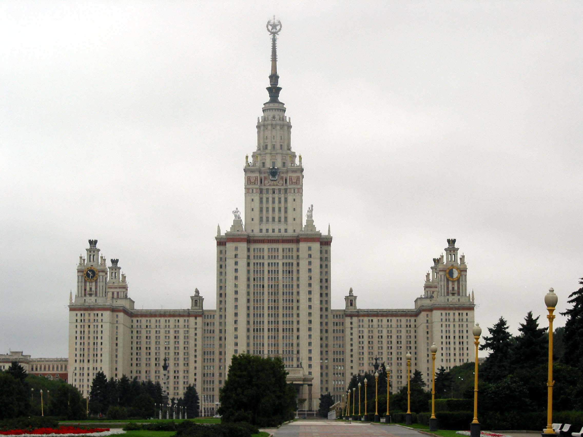 Architecture Moscow State University Sparrow Hills 01