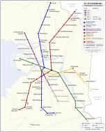 Asisbiz Saint Petersburg Underground Railway Map