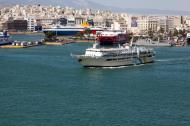Asisbiz MS AG Nektarios IMO 8969343 Anes Ferries leaving Piraeus Port of Athens Greece 01