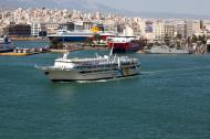Asisbiz MS AG Nektarios IMO 8969343 Anes Ferries leaving Piraeus Port of Athens Greece 02