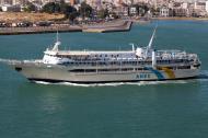 Asisbiz MS AG Nektarios IMO 8969343 Anes Ferries leaving Piraeus Port of Athens Greece 03