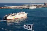 Asisbiz MS Proteus IMO 7350416 Anes Ferries Rhodes port leaving Greece Aegean Sea 01