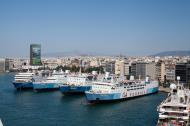 Asisbiz MS Daliana IMO 7007265 Rodanthi Romilda and Marina GA Ferries docked Piraeus Port of Athens Greece 01