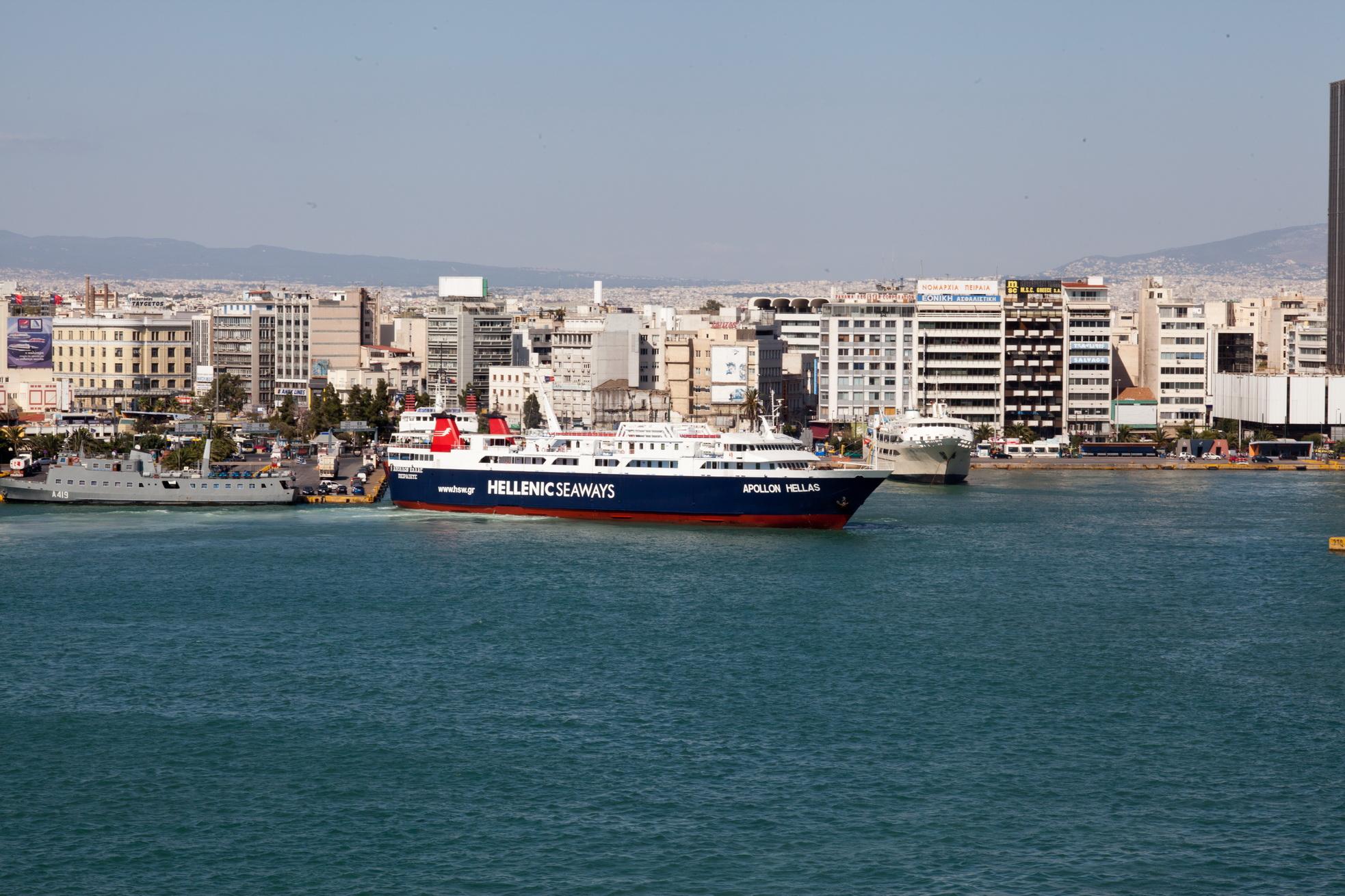 MS Apollon IMO 8807105 Heellas Hellenic Seaways Piraeus Port of Athens Greece 03