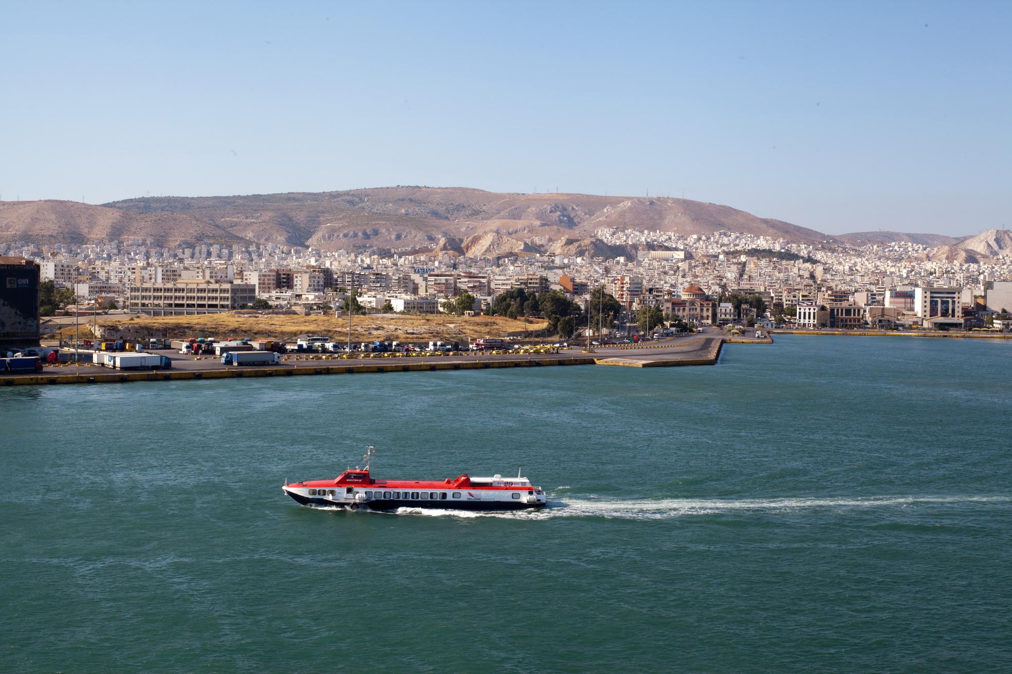 MS Flying Dolphin 29 IMO 8875700 Hellenic Seaways Piraeus Port of Athens Greece 06