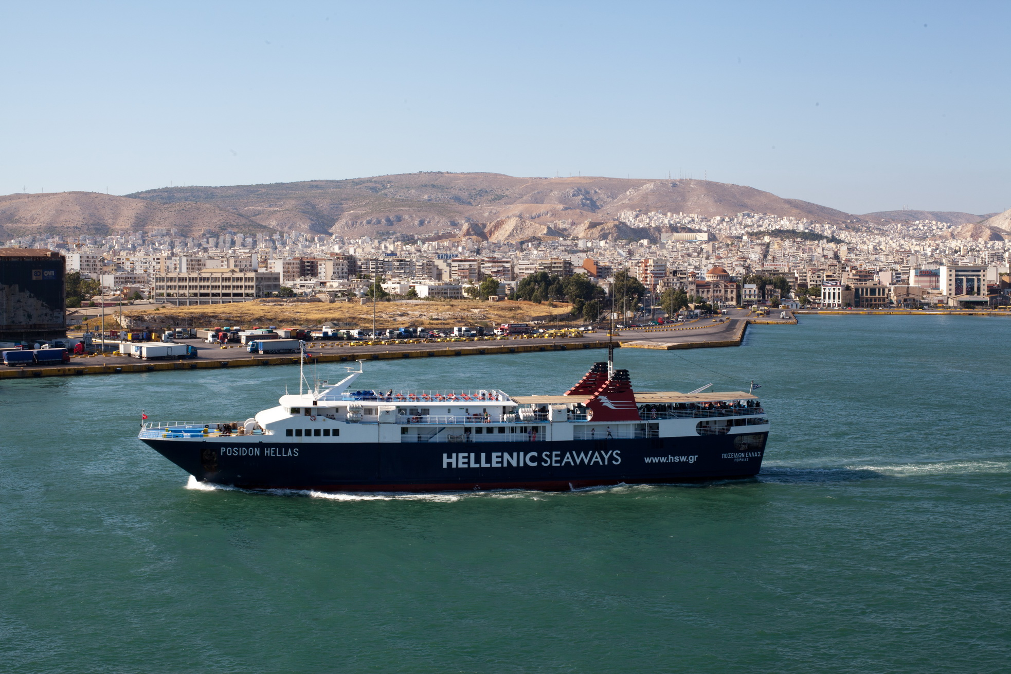 MS Posidon Hellas IMO 8966963 Hellenic Seaways Piraeus Port of Athens Greece 04