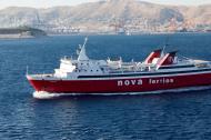 Asisbiz MS Phivos IMO 7825978 Nova Ferries leaving Piraeus Port of Athens Greece 04