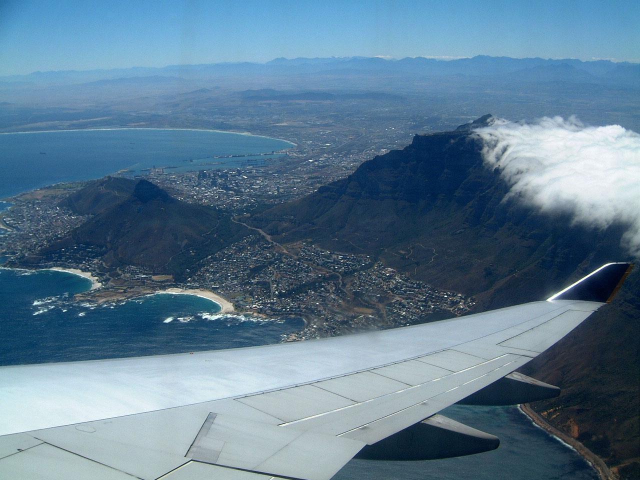 Aerial photos of Cape Town Feb 2001 02
