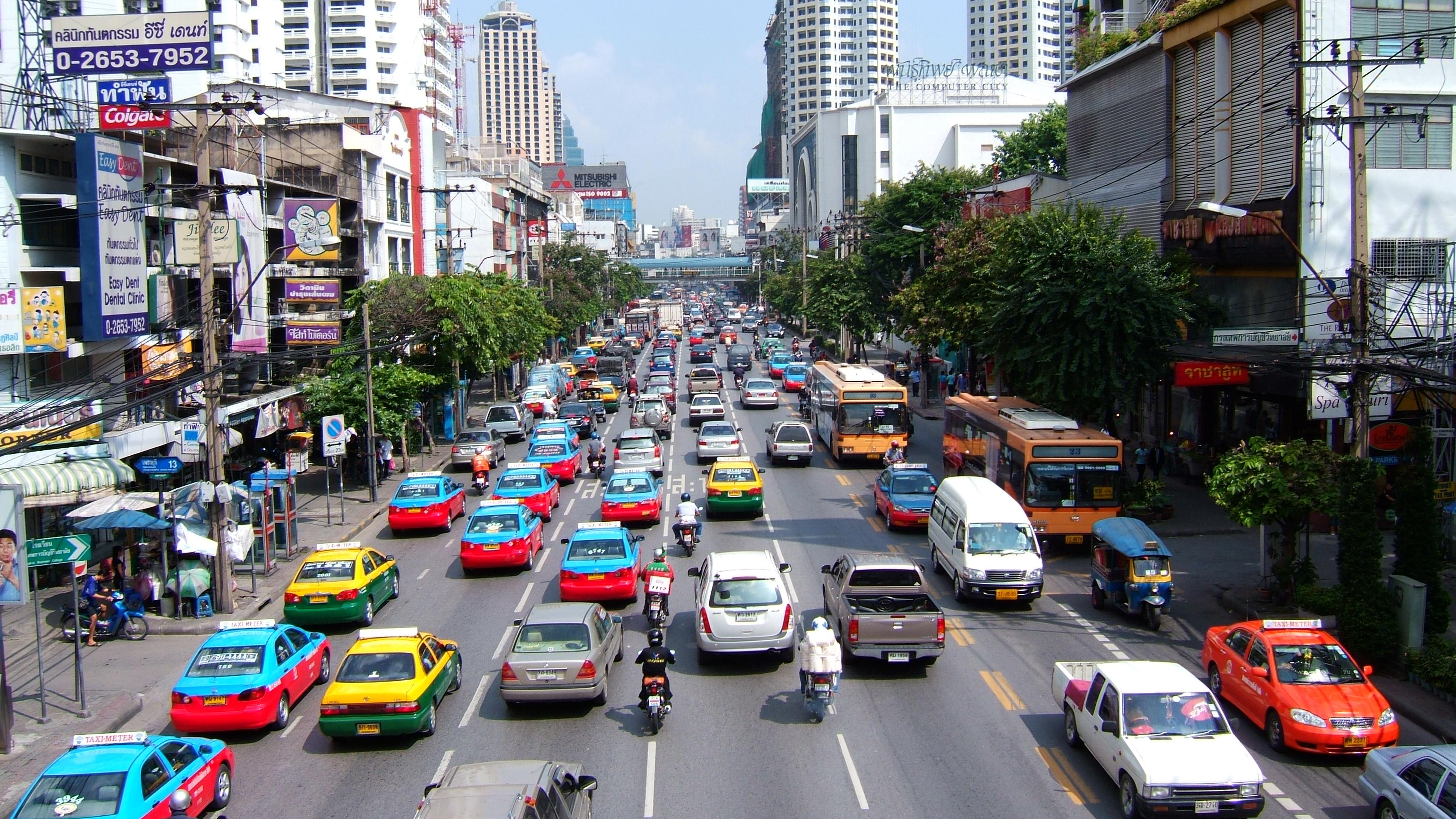 Bangkok Traffic street scenes Thailand Oct 2005 01