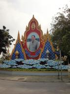 Asisbiz Kings birthday celebration street signs Bangkok Thailand 2010 01