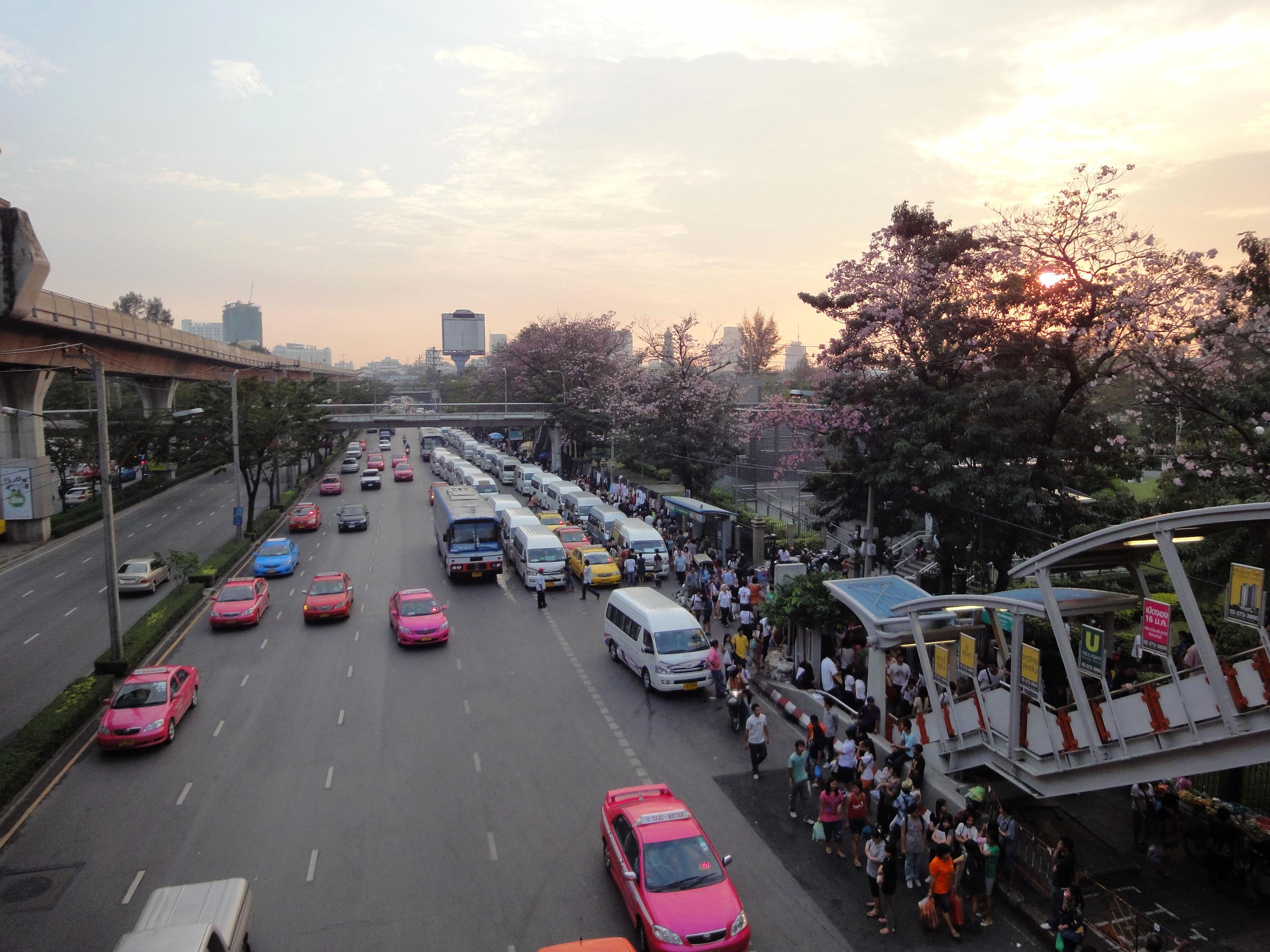 Chatuchak weekend market overpass Bangkok Thailand 2010 01