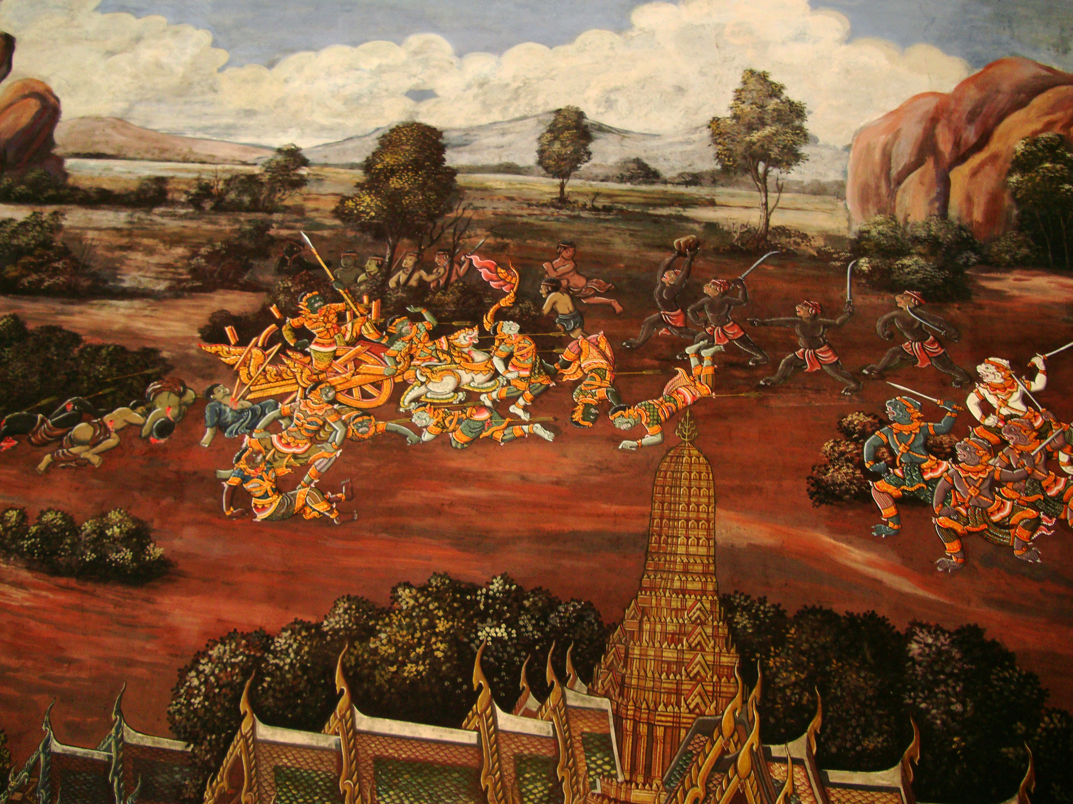 Grand Palace Gold leaf Buddhist artwork Bangkok Thailand 13