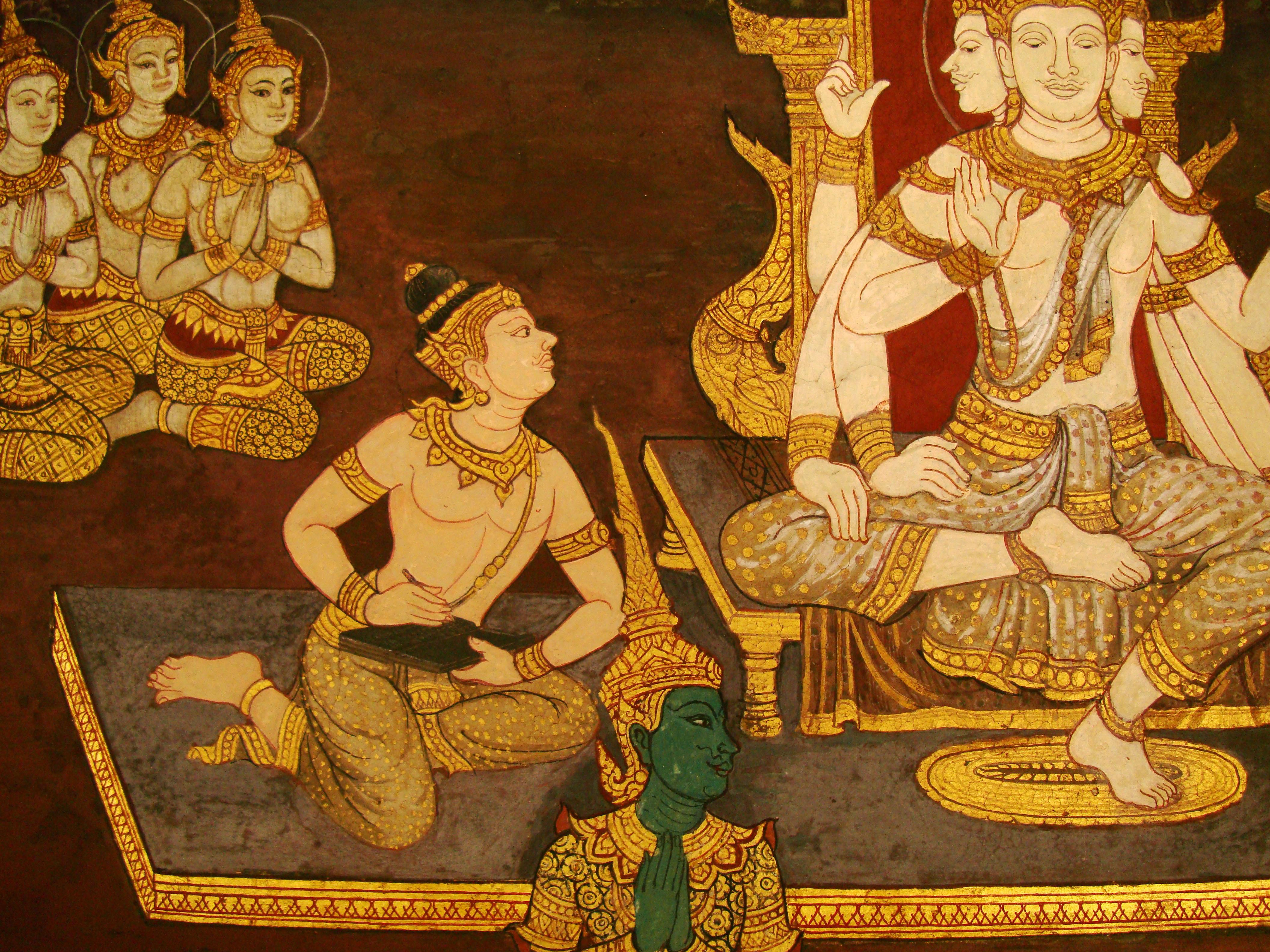 Grand Palace Gold leaf Buddhist artwork Bangkok Thailand 31