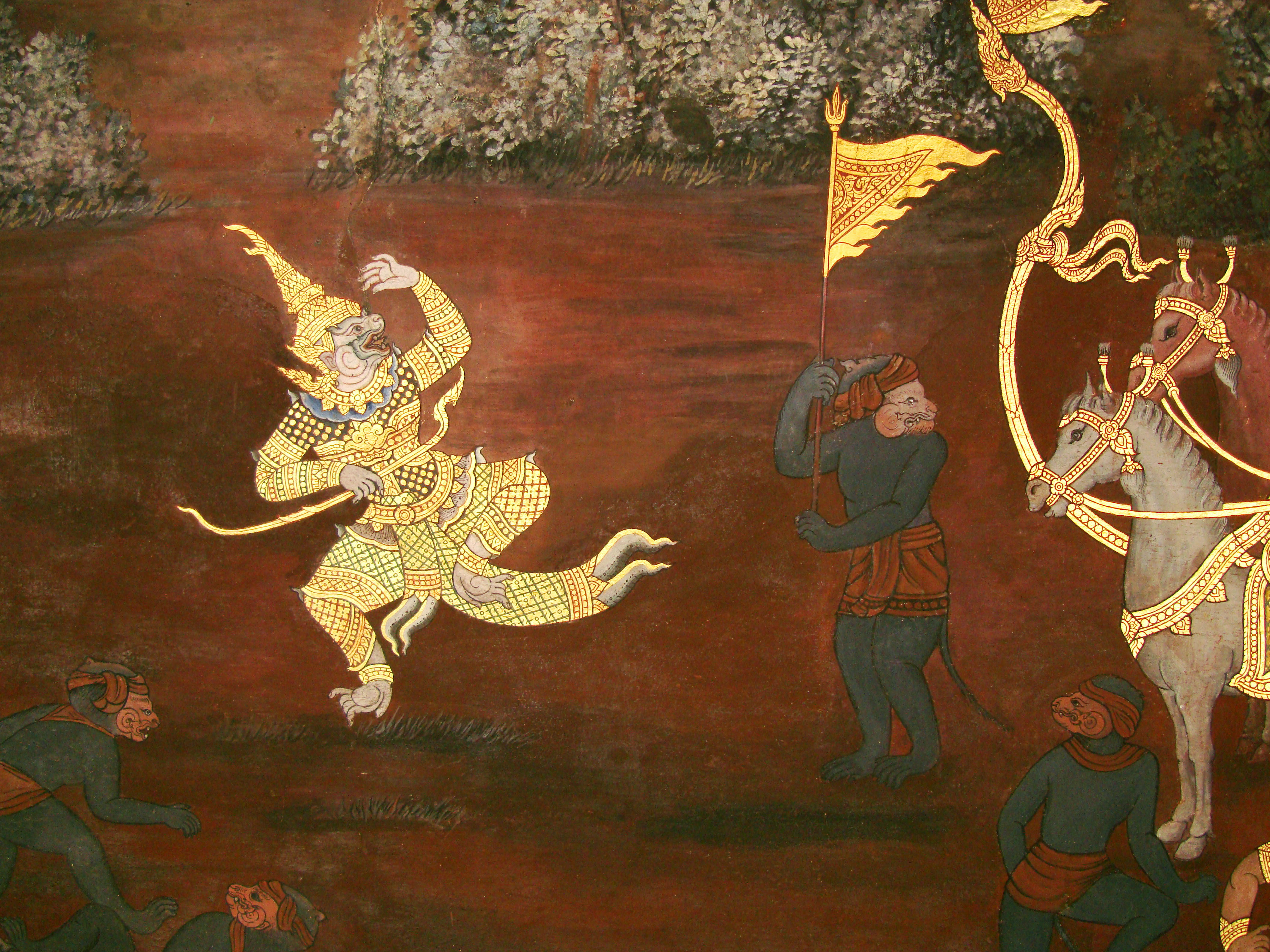 Grand Palace Gold leaf Buddhist artwork Bangkok Thailand 40