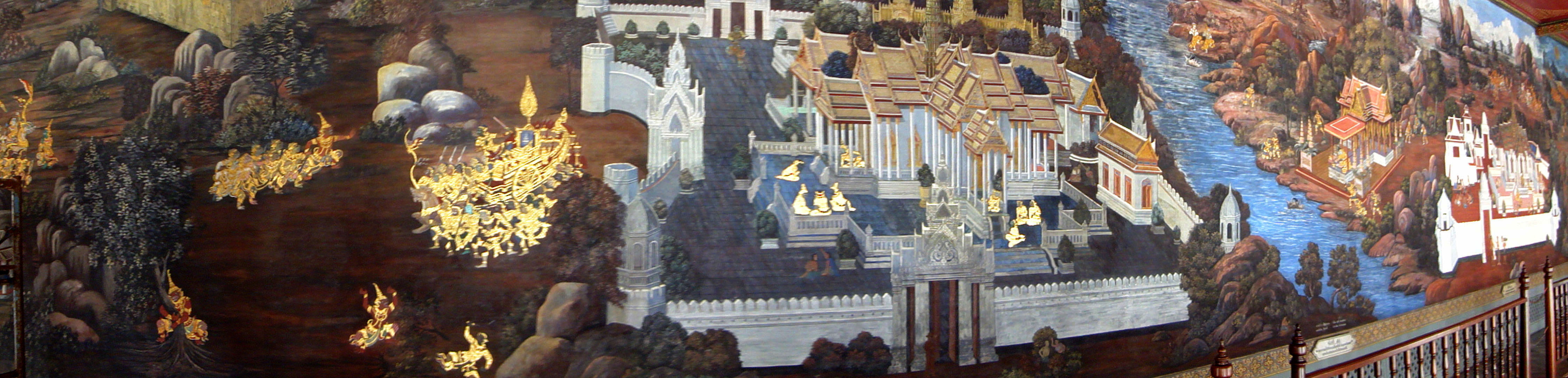 Grand Palace Gold leaf Buddhist artwork Bangkok Thailand 46