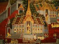 Asisbiz Grand Palace Gold leaf Buddhist artwork Bangkok Thailand 01