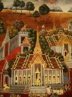 Asisbiz Grand Palace Gold leaf Buddhist artwork Bangkok Thailand 02