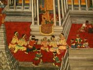 Asisbiz Grand Palace Gold leaf Buddhist artwork Bangkok Thailand 04