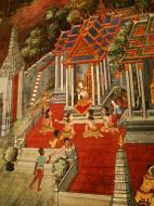 Asisbiz Grand Palace Gold leaf Buddhist artwork Bangkok Thailand 05