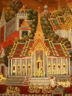 Asisbiz Grand Palace Gold leaf Buddhist artwork Bangkok Thailand 09