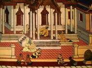 Asisbiz Grand Palace Gold leaf Buddhist artwork Bangkok Thailand 11