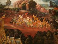 Asisbiz Grand Palace Gold leaf Buddhist artwork Bangkok Thailand 12