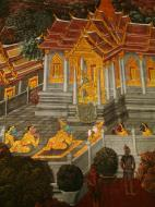 Asisbiz Grand Palace Gold leaf Buddhist artwork Bangkok Thailand 15