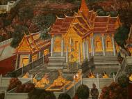 Asisbiz Grand Palace Gold leaf Buddhist artwork Bangkok Thailand 16