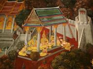 Asisbiz Grand Palace Gold leaf Buddhist artwork Bangkok Thailand 17