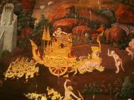 Asisbiz Grand Palace Gold leaf Buddhist artwork Bangkok Thailand 18