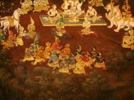 Asisbiz Grand Palace Gold leaf Buddhist artwork Bangkok Thailand 22