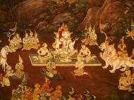 Asisbiz Grand Palace Gold leaf Buddhist artwork Bangkok Thailand 23