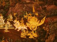 Asisbiz Grand Palace Gold leaf Buddhist artwork Bangkok Thailand 24