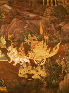 Asisbiz Grand Palace Gold leaf Buddhist artwork Bangkok Thailand 25