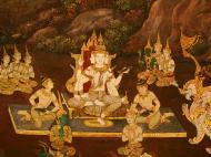 Asisbiz Grand Palace Gold leaf Buddhist artwork Bangkok Thailand 26