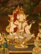 Asisbiz Grand Palace Gold leaf Buddhist artwork Bangkok Thailand 27