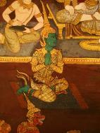 Asisbiz Grand Palace Gold leaf Buddhist artwork Bangkok Thailand 28