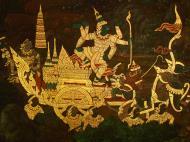 Asisbiz Grand Palace Gold leaf Buddhist artwork Bangkok Thailand 29