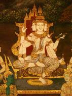Asisbiz Grand Palace Gold leaf Buddhist artwork Bangkok Thailand 30