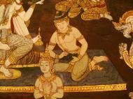 Asisbiz Grand Palace Gold leaf Buddhist artwork Bangkok Thailand 32