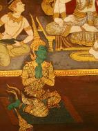 Asisbiz Grand Palace Gold leaf Buddhist artwork Bangkok Thailand 34