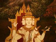 Asisbiz Grand Palace Gold leaf Buddhist artwork Bangkok Thailand 35