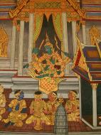 Asisbiz Grand Palace Gold leaf Buddhist artwork Bangkok Thailand 36