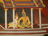 Asisbiz Grand Palace Gold leaf Buddhist artwork Bangkok Thailand 37
