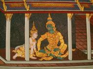 Asisbiz Grand Palace Gold leaf Buddhist artwork Bangkok Thailand 38